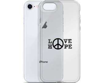 Peace, Love, Hope iPhone Case