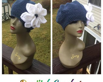 Crochet Tam with Flower