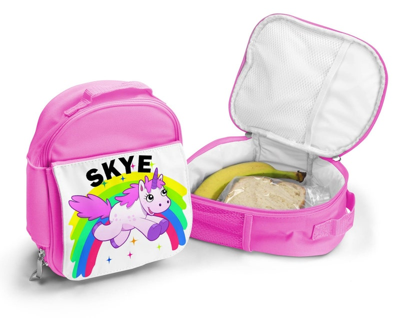 Personalized Girl Lunch Box Unicorn Lunch Box for Girls Personalised Lunch box with Name Custom Unicorn Gift for Her Personalized Lunch Bag