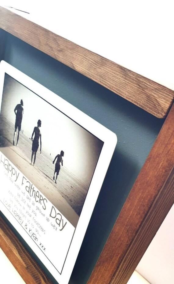 "/""My dear Grandad/"" Photo Frame Glass Mirrored Birthday Father/'s Day Gift"