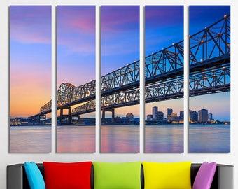 Crescent City Connection Bridge Crescent City wall art Crescent City decor Crescent City photo Connection Bridge art Connection Bridge print