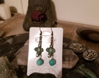 Elephant Amazonite earrings