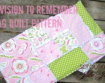 Ashlyn Rag Quilt Pattern - Baby Quilt Pattern - Kid Sewing Pattern - Easy Quilt Patterns - Simple Quilt Pattern - Baby Sewing Pattern
