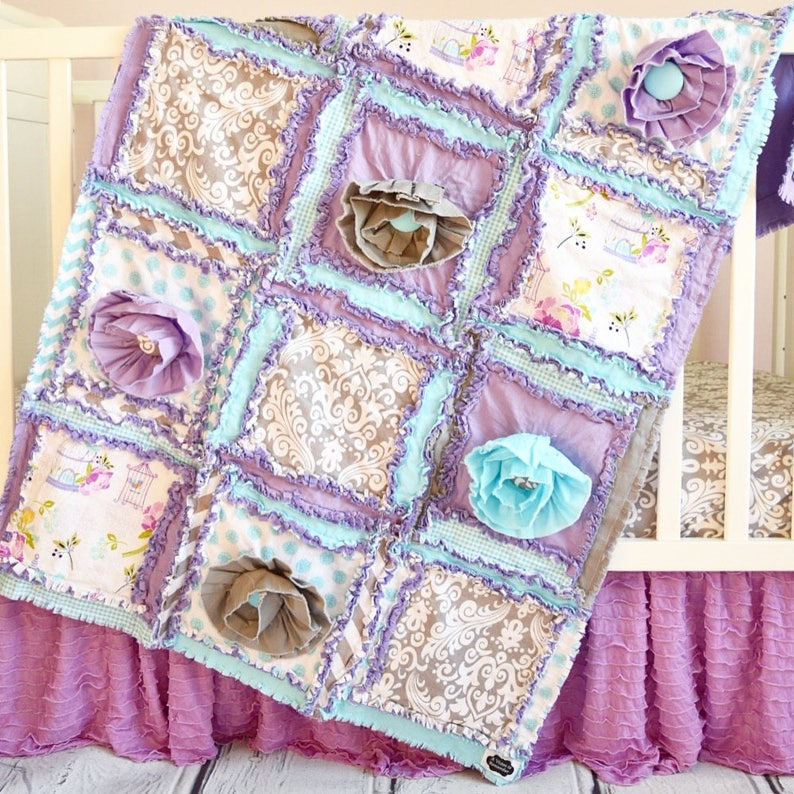 Ruffle Flower Rag Quilt Pattern - Girl Quilt Pattern - Sewing Pattern -  Baby Quilt Patterns - Baby Quilt to Make - Easy Quilt Patterns