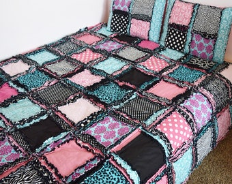 Easy Peasy Twin Size Rag Quilt Pattern, Easy Quilt Pattern, A Vision to Remember