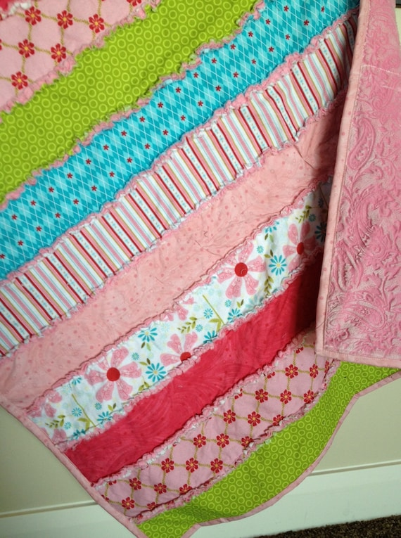 SEWING PATTERN, Strip Rag Quilt, Baby Blanket or Toddler Bed