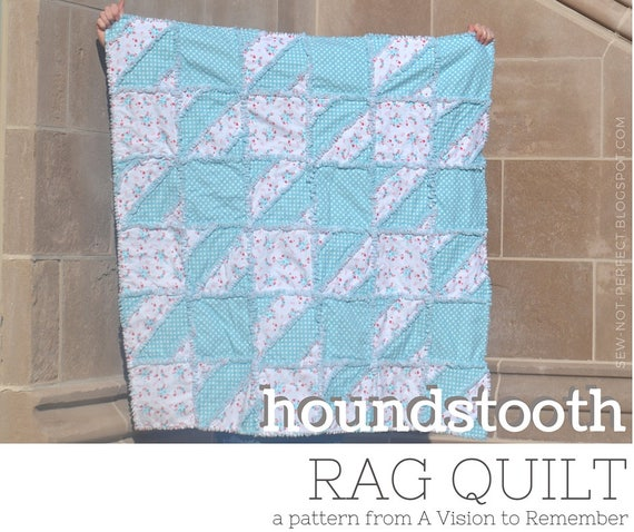 Houndstooth Quilt Pattern Crib Bedding Baby Quilt Pattern Etsy