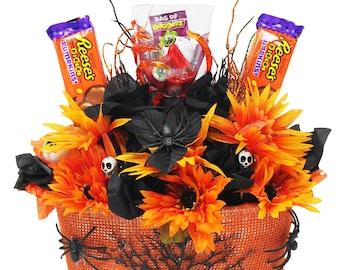 Halloween Spooky Basket.Spooky Basket Etsy