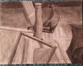 Kitchen Sink Charcoal Drawing