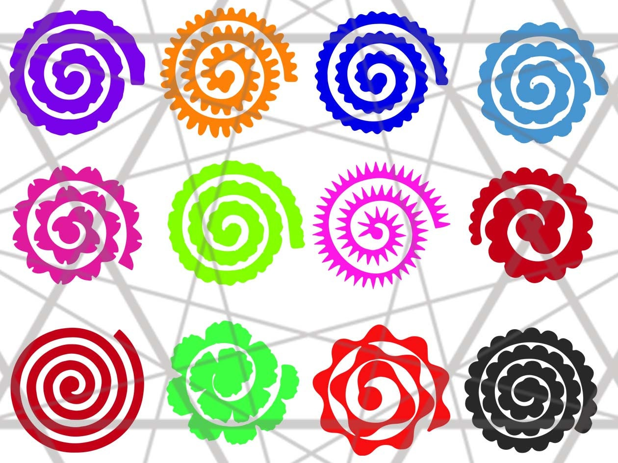 Rolled Flowers Svg Rolled Paper Flowers Svg Flowers Origami Etsy