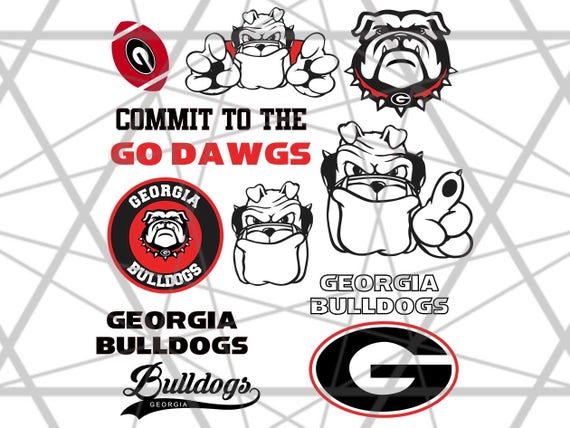 Georgia Bulldogs Svg Cuttable Design Filessvg Epsdxf Png Etsy