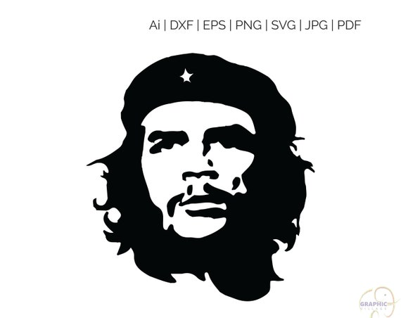 Che Guevara Svg Clipart File For Silhouette And Cricut Svg Etsy