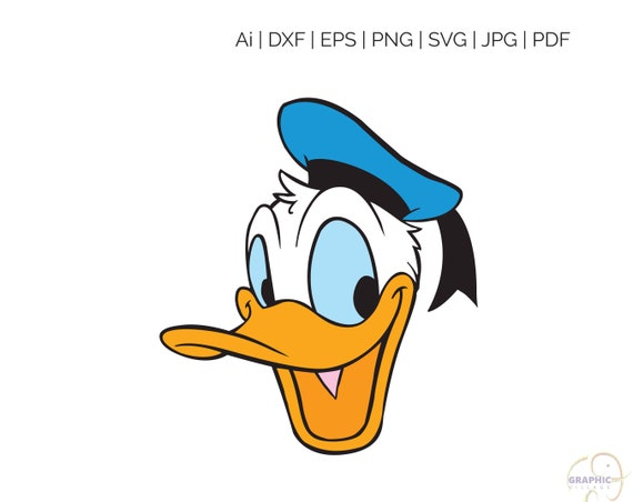 Donald Duck Disney Svg Clipart Digital Silhouette And Cricut Etsy