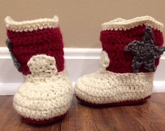 Texas A&M Cowboy Booties/ Baby Booties/ Custom Colors Available!