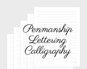 Gray Portrait 21-25mm Printable Penmanship Paper