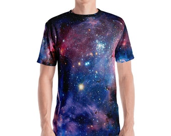 Nebula Men's T-shirt, Celestial, Constellation, Space, Festival, Festival Clothing, 90s Clothing, Grunge Clothing, Rave, Rave Outfit, Hippie