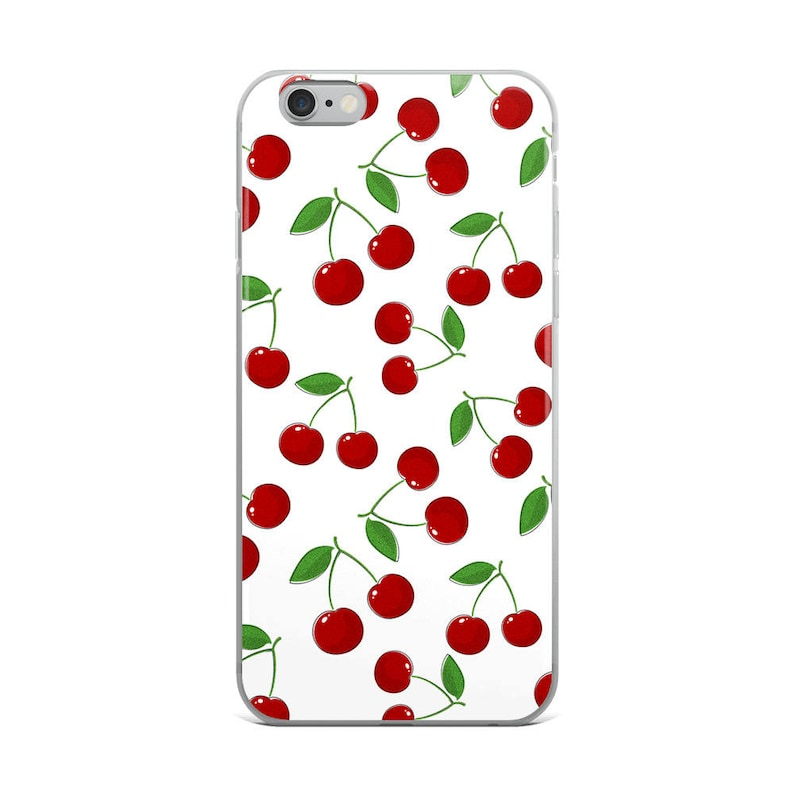 new style 5d53a 7c9ee Cherry iPhone Case, iPhone 7 Plus Case, iPhone 8 Plus Case, iPhone X Case,  iPhone 7 Case, iPhone 8 Case, iPhone 6 case, Cherry, Vegan