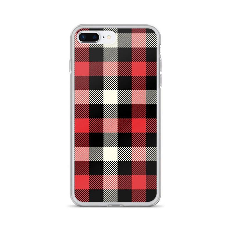 huge discount 1660f 4c749 Christmas Plaid iPhone Case, iPhone X Case, iPhone XS Case, iPhone 8 Case,  iPhone 8 Plus Case, iPhone 7 Case, iPhone 7 Plus Case, Plaid