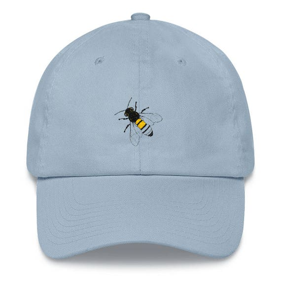 Busy Bee Embroidered Light Blue Baseball Hat Baseball Hats  d4918763486