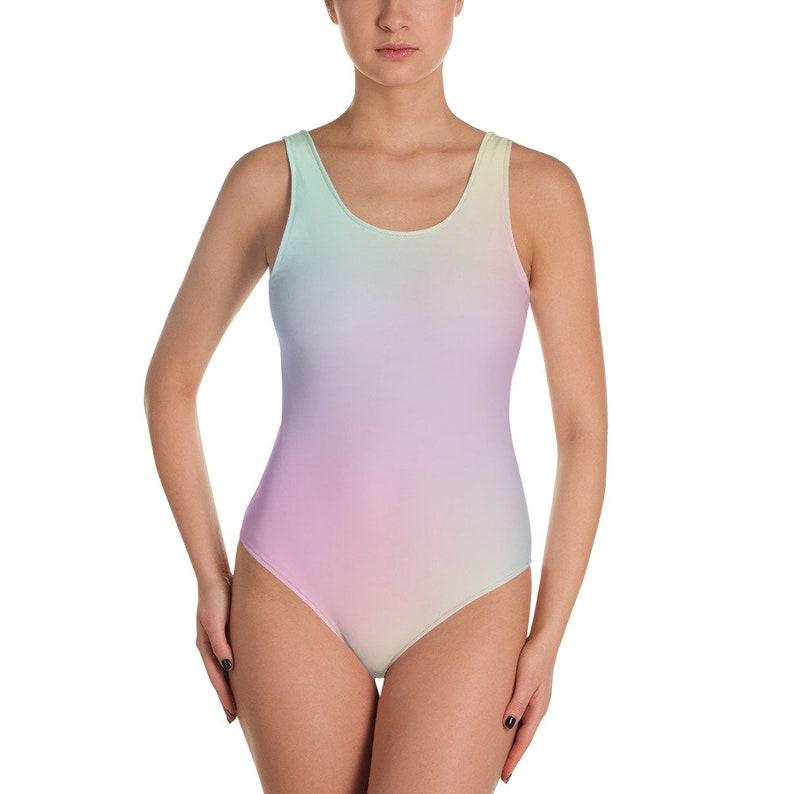 07a6afee47 Rainbow One-Piece Swimsuit Unicorn Swimsuit Swimsuit | Etsy