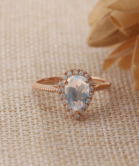 Gifts For Mother Halo Moissanite Engagement Wedding Ring Etsy