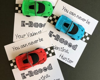 CiCy 12 Pcs Race Car Eraser Puzzle Eraser Party Favors Kids School Office Stationary Kits