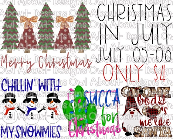Merry Christmas In July Images.Christmas In July Bundle Digital Downloads Merry Christmas Christmas Trees Gnome Snowmie Succa For Christmas Cactus Sublimation Png