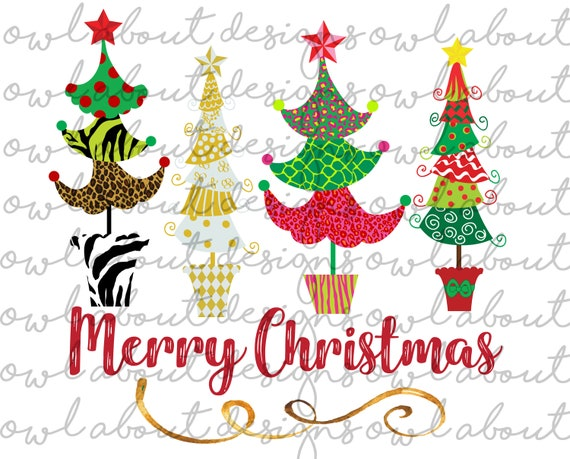 Merry Christmas Images Download.Merry Christmas Digital Download Christmas Trees Funky Christmas Trees Sublimation Design Png Winter Christmas Cheetah Zebra Jpeg