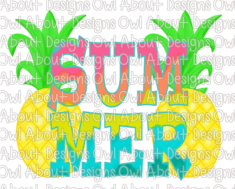 Summer Digital Download Pineapple Summer Spring Spring