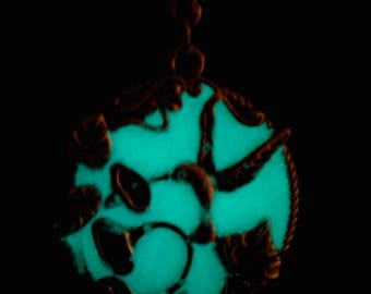 Glowing Green Hummingbird Necklace