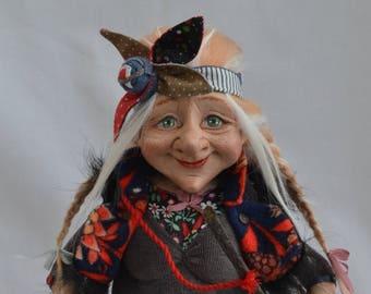 Baba Yaga , Witch. Interior doll by Anastasia Adamovich