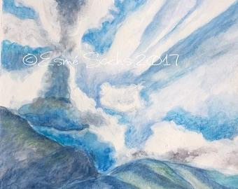 Yalakom Mountains & Sky landscape painting