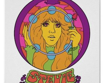 092c51a37 Stevie Nicks... Vintage Fillmore Style... Fleetwood Mac... Wall Art... Art....  Rock Poster... 70s