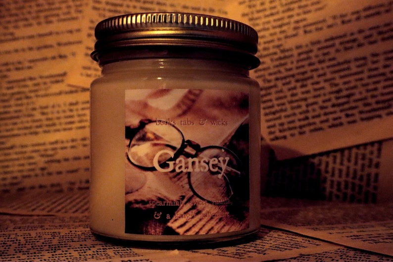 Gansey Spearmint /& Vanilla The Raven Cycle inspired Bookish 4 Ounce Soy Candle