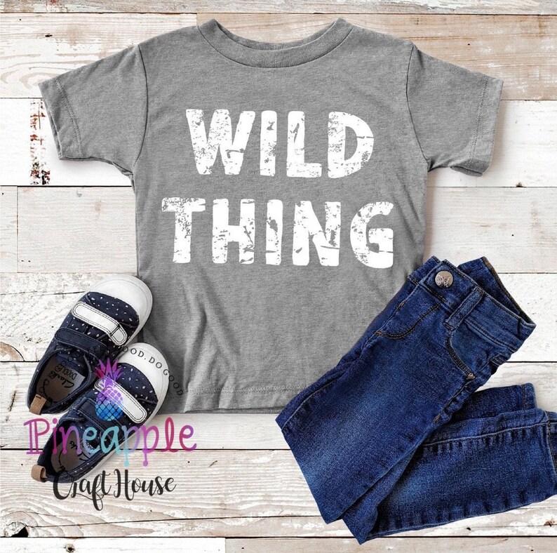 Wild Thing Kids T-Shirt Boys Shirts Wild Kids Shirt Where the Wild Things Are