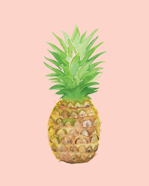 photograph regarding Pineapple Printable identify Pineapple Printable Watercolor Artwork Quick Electronic Obtain, fruit artwork print pineapple watercolour portray kitchen area print tropical house artwork