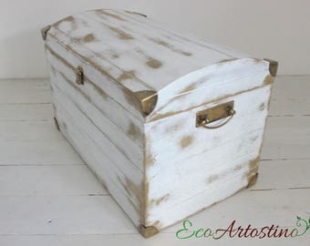 Handmade Vintage rustic wooden trunk - choice of colors