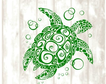 Sea Turtle,  SVG, PNG, EPS, Dxf Digital files only, Cricut, Silhouette, summer, ocean, turtles