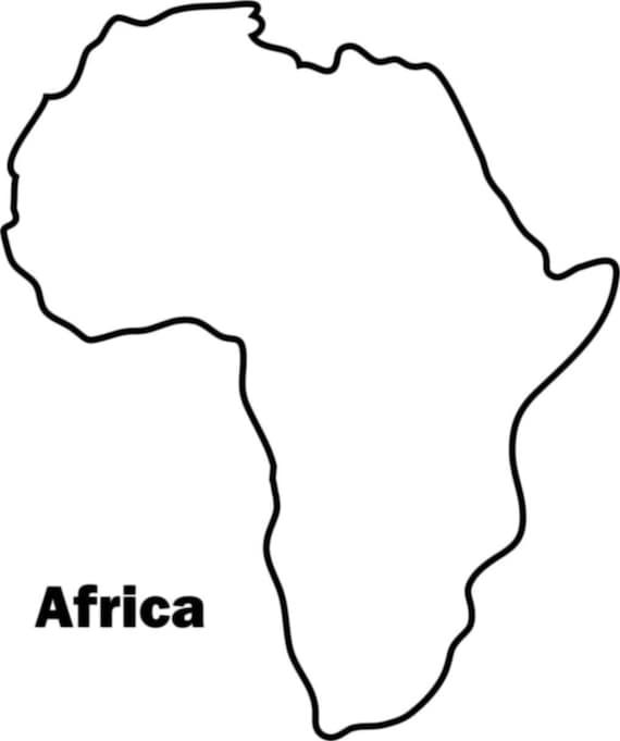 африка картинка материка черно белая прежде