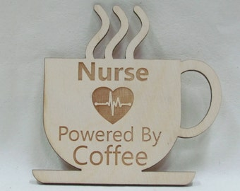 Powered By Coffee Magnet - Nurse (beating heart)