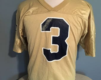 bc31761be Vintage University of Notre Dame  3 NCAA Football 1990s Champion Gold Jersey    South Bend   Fighting Irish   Football Jersey Size 40