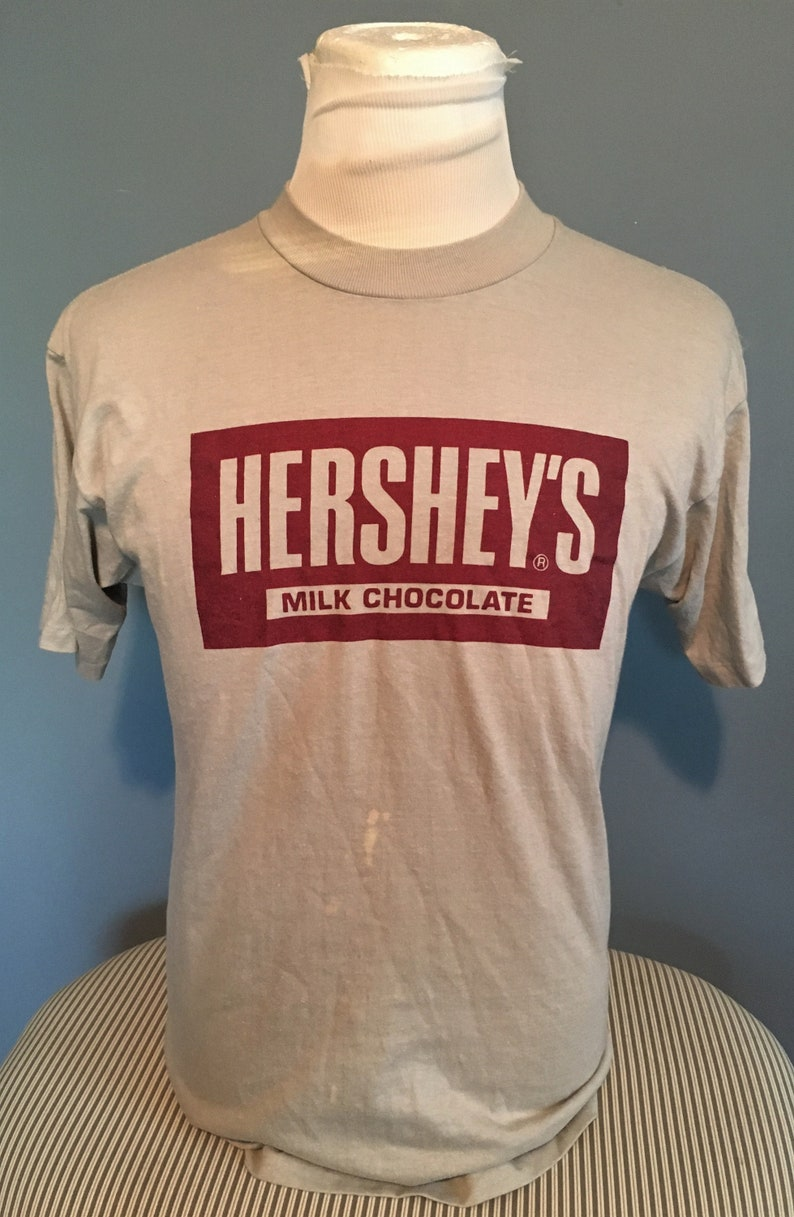 cf15d4d309d7f Vintage Hershey's Milk Chocolate 1980s tee t shirt / 80s clothing / vintage  clothing Large
