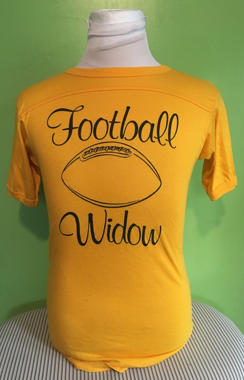 51c5e523dc98e Vintage I am a Sports Football Widow Play Me or Trade Me 1980s tee t shirt  / vintage clothing / 80s clothing Medium