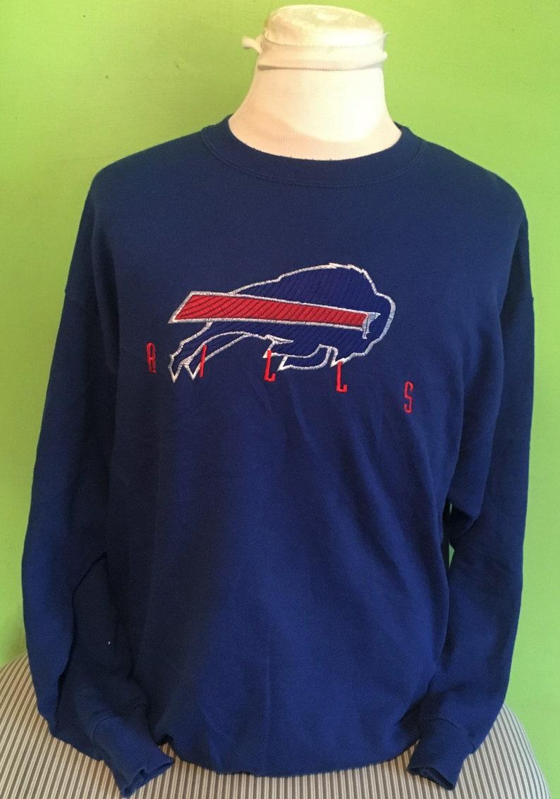 Vintage Buffalo Bills 1990s NFL Football Blue Crewneck Logo  a14891b81