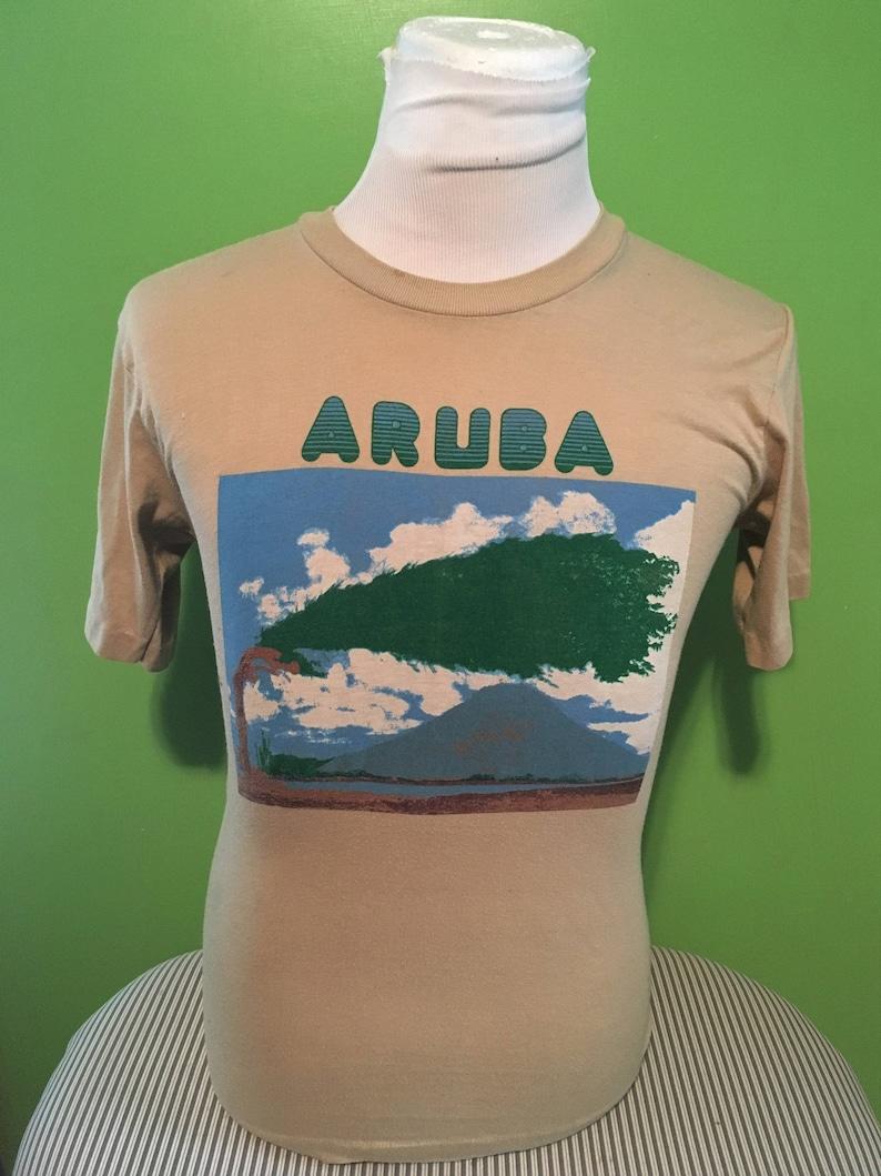 baebfdfacaa1f Vintage Aruba Tourist Beach Summer 1980s tee tshirts / 80s clothing / retro  / tee tshirts / vintage clothing Medium