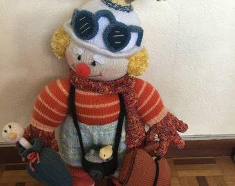 Traveler wool doll