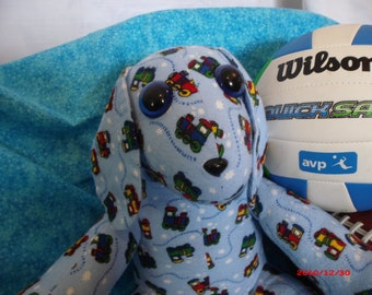Blue Dog Stuffed Animal, Handmade Soft Toy
