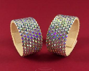 Rhinestone bracelet, rhinestone bangle, ballroom bracelet, belly dance jewelry, ballroom jewelry, bellydance bracelet, ballroom accessories