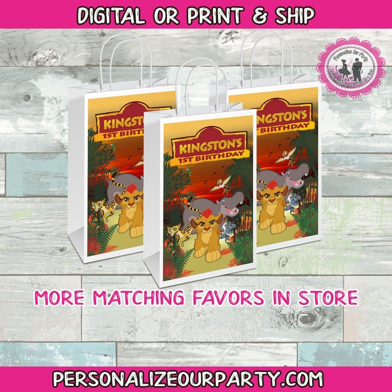 the lion guard gift bags-lion guard party bags-digital-printed-lion guard treat bags-personalized candy bag favors-party gift bag-lion guard