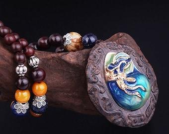 Tibetian Black Rosewood Necklace
